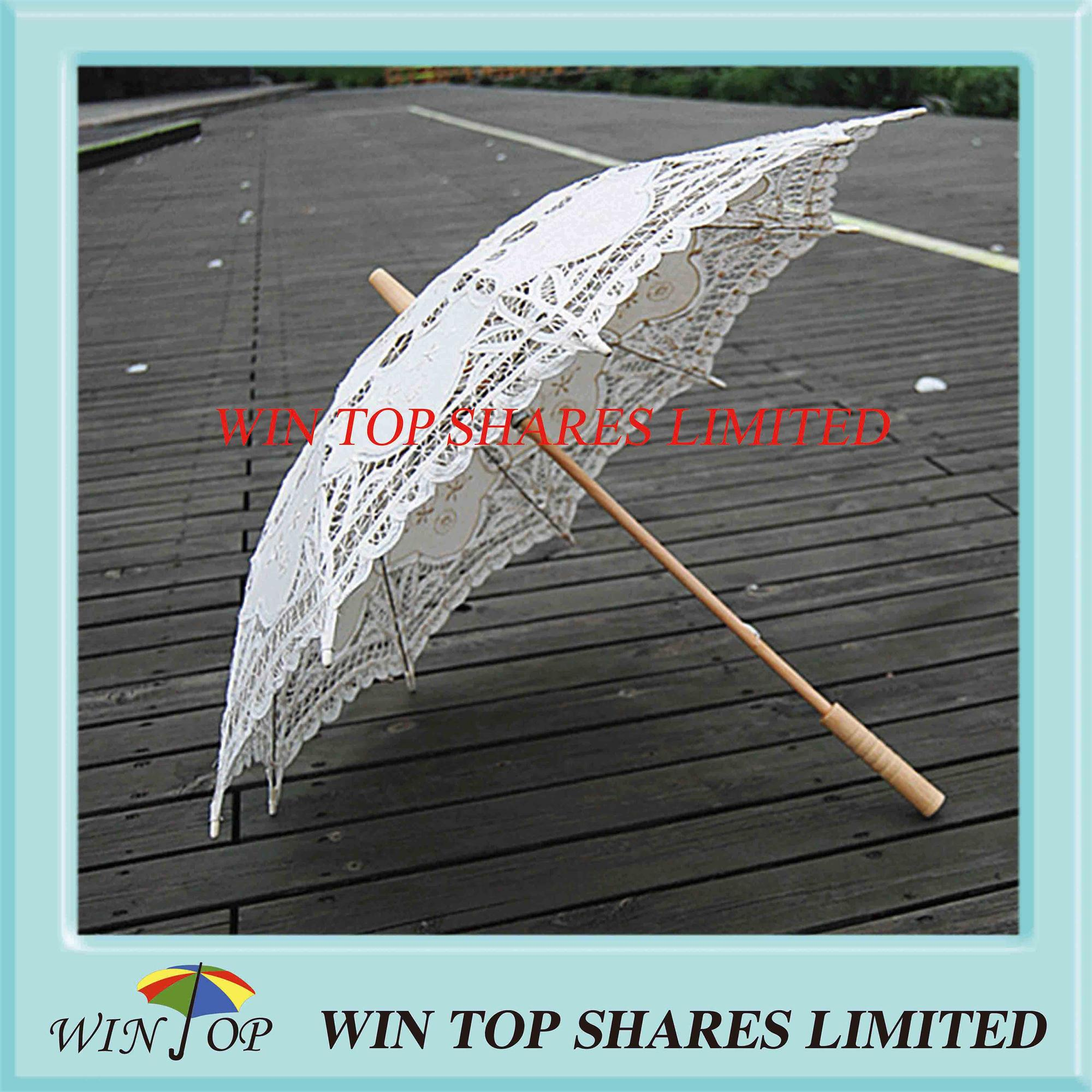 Beige embroidery craft parasol manufacturer